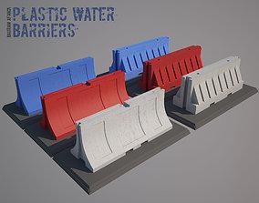 3D model Plastic Traffic Water Barrier - Barricade