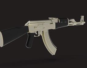 military AK-47 3D model low-poly