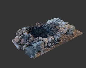Campfire 3D model realtime