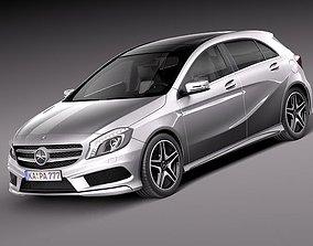 3D Mercedes A-class 2013