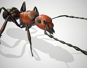 rigged Red Ant Low Poly 3d model