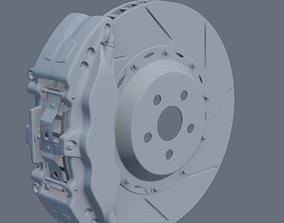Car braking system 3D model