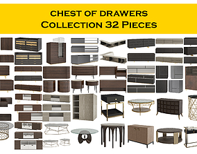 3D model chest of drawers Collection 32 Pieces
