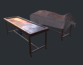 3D asset Mobile table for autopsy
