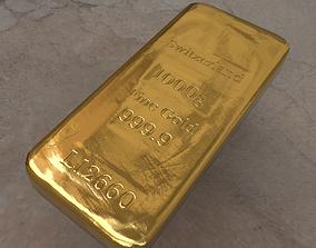 Gold bar 3D asset game-ready