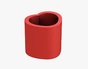 3D printable model Pencil cup heart