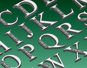 initials 3D print model letters