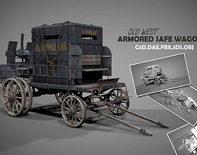 3D Old West Armored Safe Wagon
