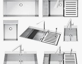 3D model game-ready appliance Barazza sinks