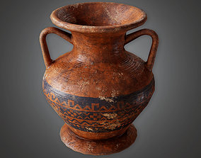 VR / AR ready TRS - Ancient Clay Pot 02 - PBR Game Ready