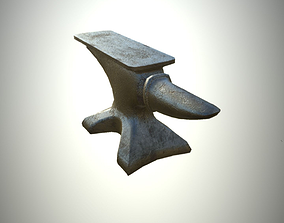 Game ready LP Anvil Viking Medieval Blacksmith 3D asset