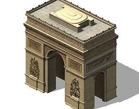 City Building - Arc de Triomphe 3D