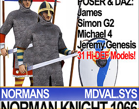 3D model Medieval Knight Props Norman Breton 1066 Poser