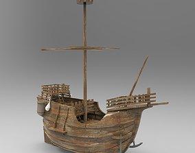 3D model Small Santa Maria Boat