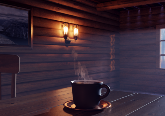 Cold morning, hot coffee...