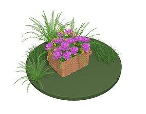 3D Flowers in a basket