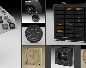F16 Right Auxiliary Console 3D model