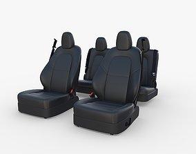 Tesla Model Y Seats Dark 3D