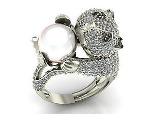 jewel jewellery 3D printable model Ring