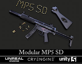 3D asset Modular MP5 SD - Textured - Game Ready