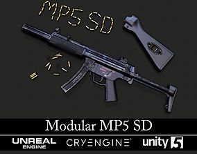 3D model Modular MP5 SD - Textured - Game Ready
