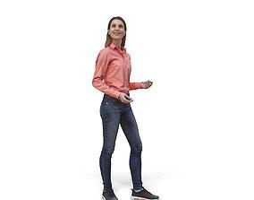 3D model Smiling Standing Woman CWom0336-HD2-O02P01-S