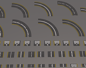 Road Patterns 3D asset