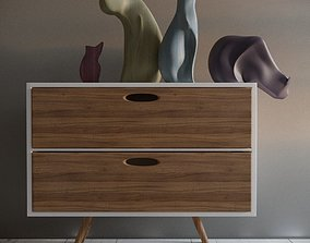 3D asset Furniture with cats