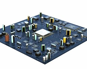 3D model Motherboard Plate Vray