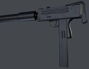 3D asset Ingram MAC-10 submachine gun