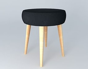 3D model STOOL BLACK Pin39up houses the world