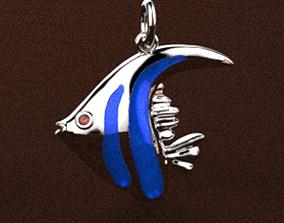 3D print model Angel fish charm