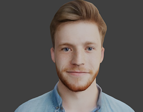 3D model boy head