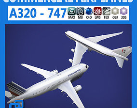 3D model Pack - Commercial Airplanes