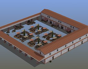 stall Ancient Marketplace 3D model