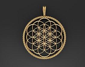 Flower of Life pendant 3D printable model