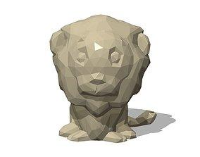3D print model lion Low Poly Lion