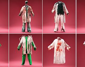 8 Medical Horror Outfits 3D model