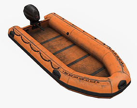 3D asset Inflatable boat