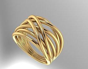 gold fashion ring 3D print model