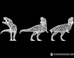 Dinosaur - T-Rex Roar Digital 3D printable model 2