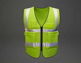 3D asset Worker Safety Vest Green