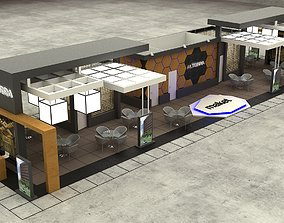 3D Exhibition Stall Size 29 m x 8 m Height 366 cm
