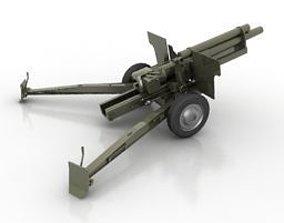WW2 Halzinger cannon 3D asset