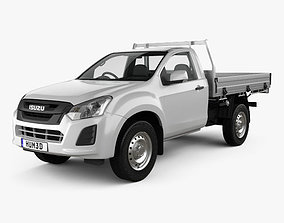 Isuzu D-Max Single Cab Alloy Tray SX 2017 3D model