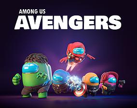 Among Us - Avengers Pack 3D model