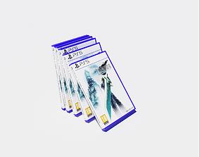 3D asset Low Poly Final Fantasy 7 PS5 Disc