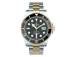 3D model Rolex Submariner Date Oystersteel And Yellow 2