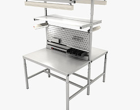 3D Dual adjustable working table