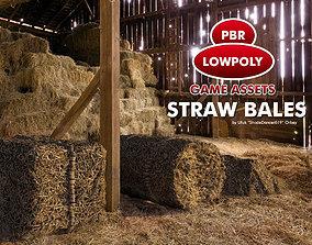 3D asset Straw Bales